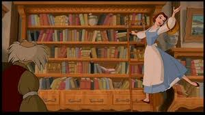 Belle in library
